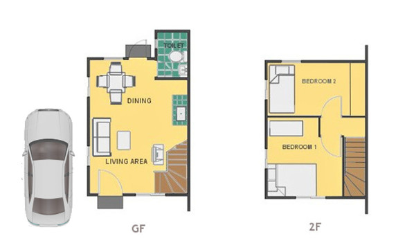 Mika Floor Plan House and Lot in Sorsogon