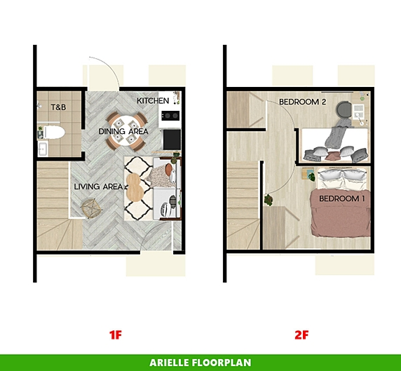 Arielle Floor Plan House and Lot in Sorsogon