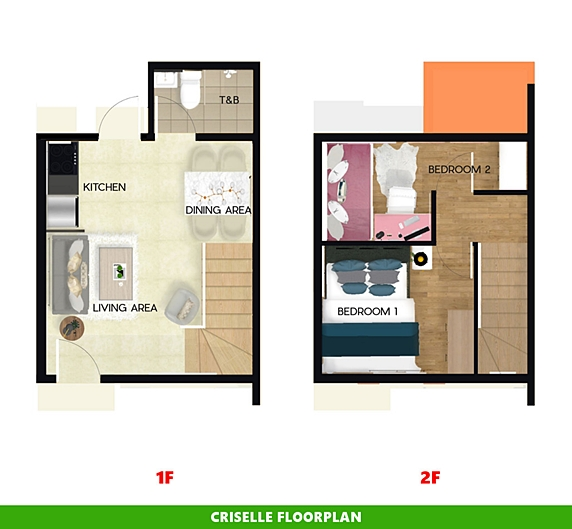 Criselle Floor Plan House and Lot in Sorsogon